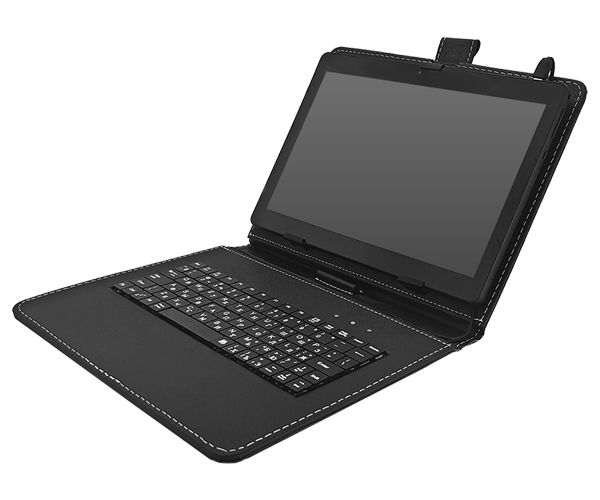 Универсальный Чехол с КЛАВИАТУРОЙ 10 (10.1, 9.7, 9.6) micro USB, РУССКИЕ БУКВЫ