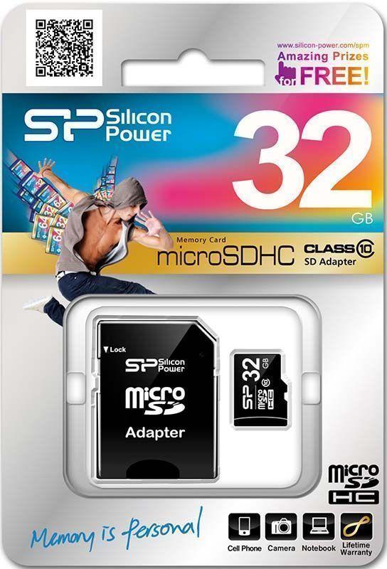 Карта памяти 32GB Silicon Power MicroSDHC