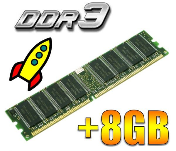 Увеличение RAM +8GB DDR3