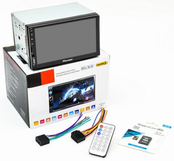 Автомагнитола 2 DIN MP5 Pioneer 7015+AV+Карта памяти 32GB