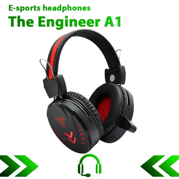 Супер Игровые наушники проводные с микрофоном The Engineer A1 (ОРИГИНАЛ))