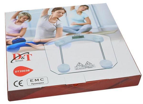 АКЦИЯ! Весы электронные напольные стеклянные до 180 кг D&T Smart DT 2003B