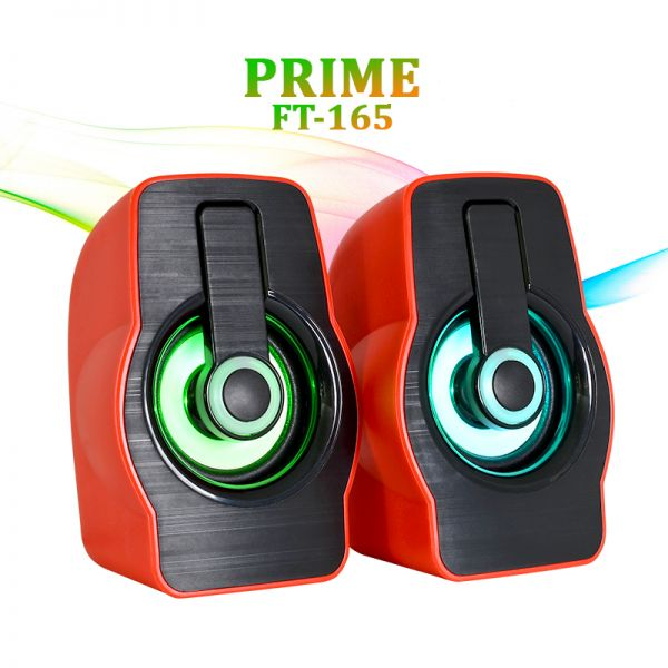Колонки USB PRIME FT-185 Black Red