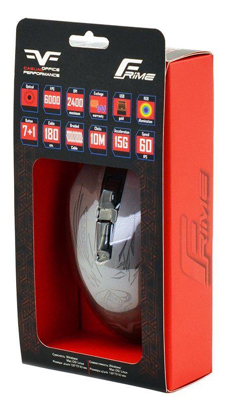 Мышь проводная игровая Frime Drax USB