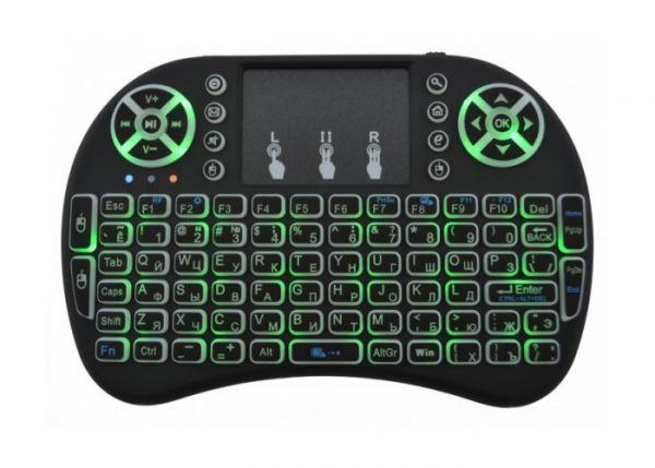 Беспроводная клавиатура Mini Keyboard Backlit с тачпадом и подсветкой