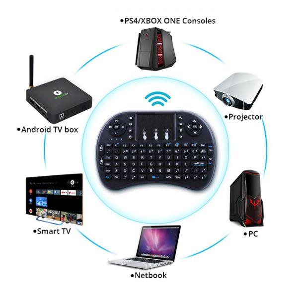 Беспроводная клавиатура  Mini Keyboard i8 с тачпадом