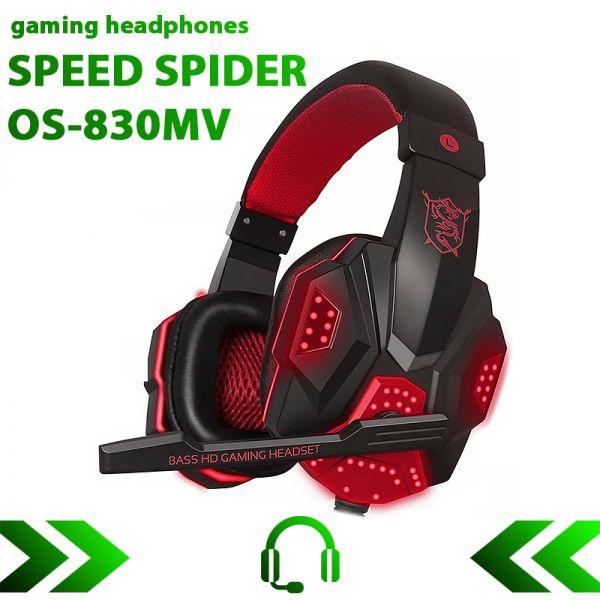 Игровые наушники SPEED SPIDER OS-830MV с микрофоном и подсветкой