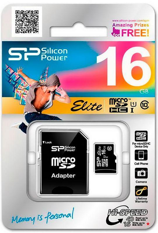 Карта памяти 16GB Silicon Power MicroSDHC