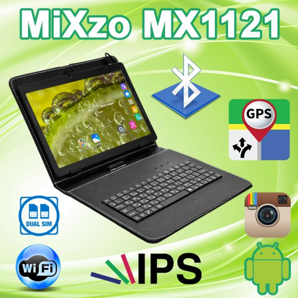 Недорогой Планшет MiXzo MX1121 3G 10.1'' IPS 2/16GB GPS + Чехол-клавиатура