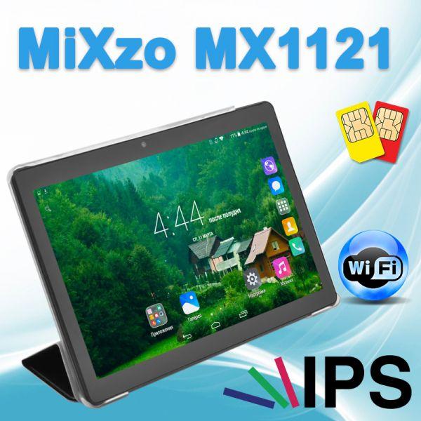 Недорогой Планшет MiXzo MX1121 3G 10.1'' IPS 2/16GB GPS + Чехол-вкладыш