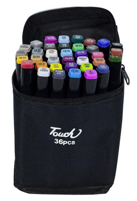 Набір двосторонніх скетч маркерів Touchbool на спиртовій основі 36 штук в сумці
